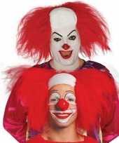 Halloween clown pruik rood volwassenen carnaval