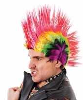 Hanekam pruiken felle kleuren carnaval