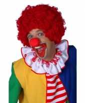 Rode clowns pruik carnaval
